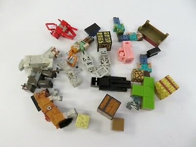 1 Lb Bulk Lot of Unsorted Minecraft Toys with Characters Accessories - LOT