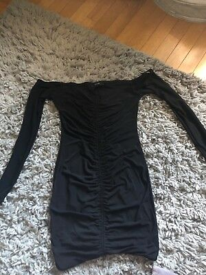 forever21 black mini dress with straps