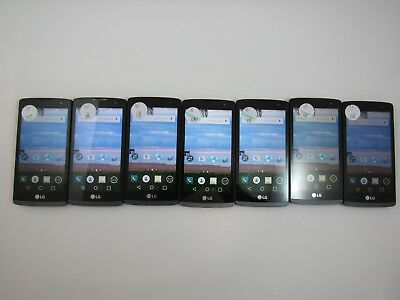 Lot of 7 LG Power L22C Tracfone Check IMEI Fair Condition 3-422
