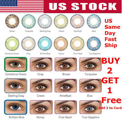 1 Pair Vibrant Color Contacts Eye Lenses Colorblends Cosmetic Makeup Lens