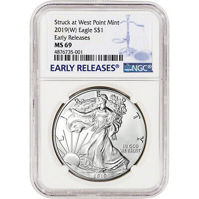 2019-W American Silver Eagle - NGC MS69 - Early Releases