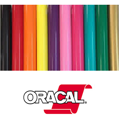 Oracal 651 Permanent Self Adhesive Indoor Outdoor Craft Vinyl 12 Width Rolls