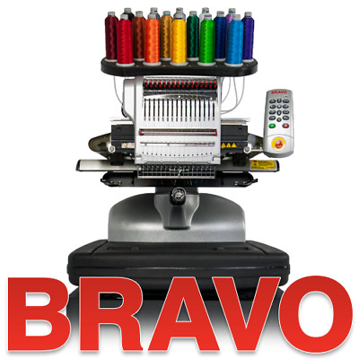 Melco BRAVO Commerical 16 Needle Embroidery Machine Package C