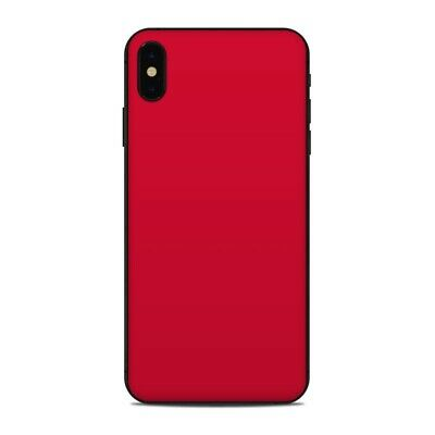 iPhone XS Max Skin - Solid Red - Sticker Decal