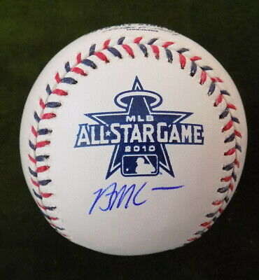 BRIAN MCCANN AUTOGRAPHED MLB 2010 ALL STAR GAME BASEBALL ATLANTA BRAVES ASTROS