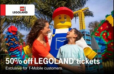 Legoland California and Florida 50 off tickets admission six people exp 32719
