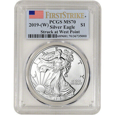 2019-W American Silver Eagle - PCGS MS70 - First Strike