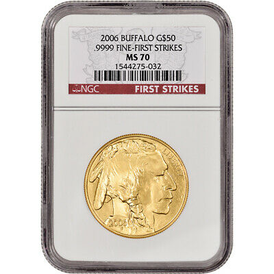 2006 American Gold Buffalo 1 oz 50 - NGC MS70 - First Strikes