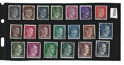 Adolph Hitler stamp set  20 different Third Reich stamps  Nazi Germany  WWII