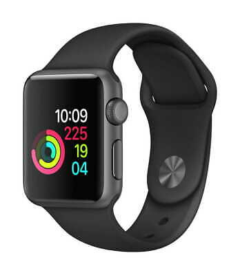 Apple Watch Series 1 42mm Space Gray Aluminum MP032LLA With Black Band