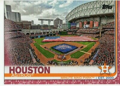 2019 Topps Baseball Series 1 Houston Astros Mothers Day Pink Parallel 1050 159