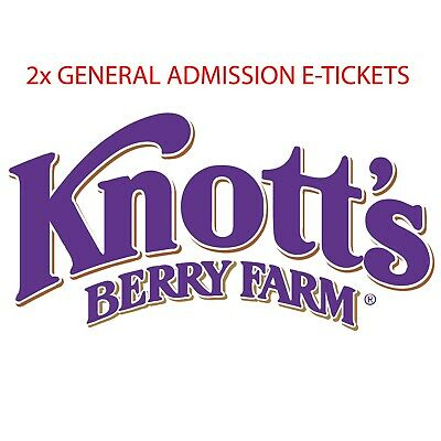 Knotts Berry Farm 1 day General Admission ticket Total of 2 E-Tickets
