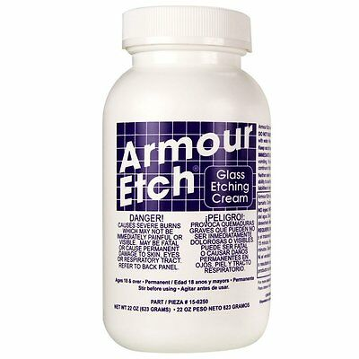 Armour Etch Glass Etching Cream - 22 oz Bottle