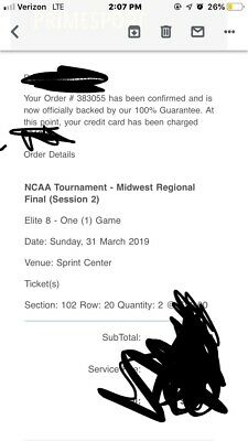 2 Elite 8 tickets Section 102