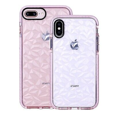 Crystal Clear Shockproof Silicone TPU Girls Case Protective Cover For iPhone