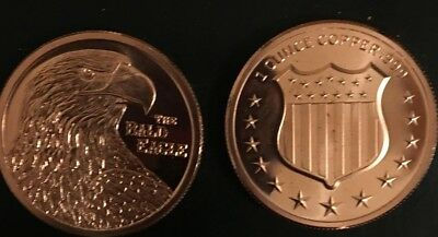 1  Bald Eagle 1 oz  Copper Bullion Rounds Coins  ALMOST SOLD OUT