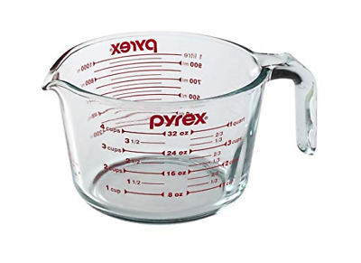 Pyrex Prepware 4-cup Measuring Cup Red Graphics Clear