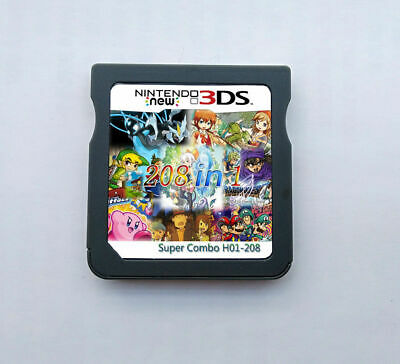 208 in 1 Game Games Cartridge Multicart For Nintendo DS NDS NDSL NDSi 2DS 3DS US