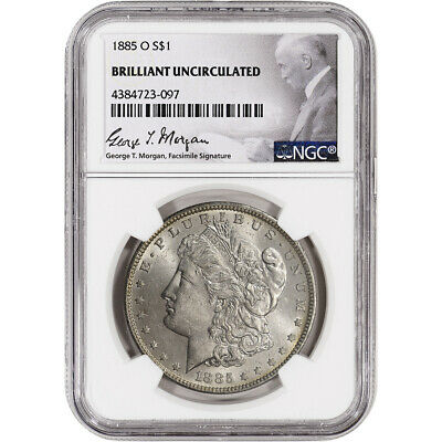 1885-O US Morgan Silver Dollar 1 - NGC Brilliant Uncirculated
