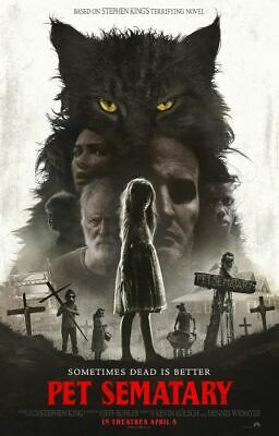 Pet Sematary - original DS movie poster 27x40 DS FINAL - 2019 Stephen King