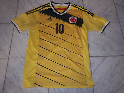 JAMES RODRIGUEZ ADIDAS 10 COLUMBIA COLOMBIA SOCCER FUTBOL WORLD CUP JERSEY L