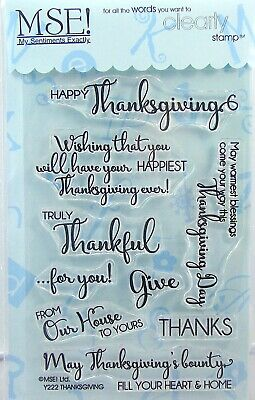 NEW My Sentiments Exactly Clear Stamps Y222 Thanksgiving
