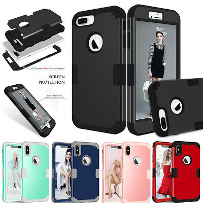 iPhone 7 8 6 Plus 6s XS Max XR X Case Cover Protective Hybrid Rugged Shockproof