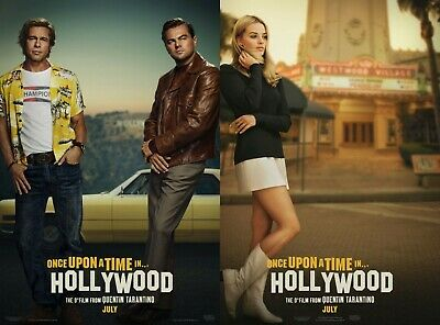 Once Upon A Time In Hollywood - original DS movie poster 27x40 DS - Adv set