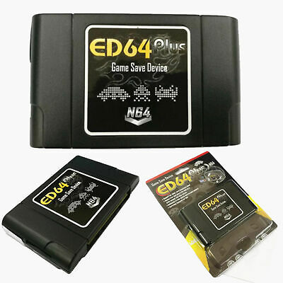ED64 Plus Game Save Device 8GB SD Card Adapter for N64 Game Cartridge PALNTSC