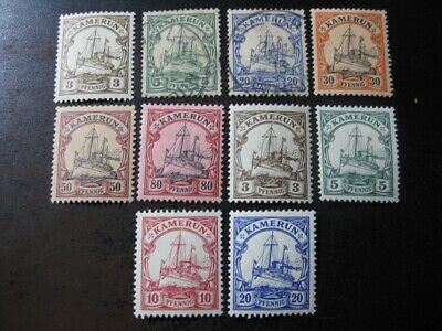 KAMERUN GERMAN COLONY valuable stamp collection w Kaiser Yachts