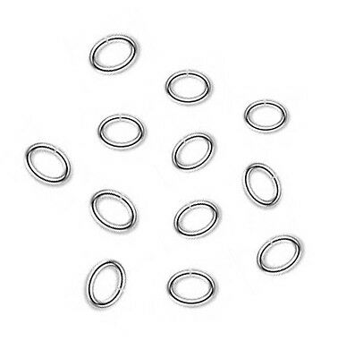 100  Silver Plated Oval Jump Rings 8 x 6MM Heavy 16 Gauge