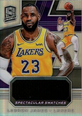 LeBron James 2018-19 Spectra Spectacular Swatches Jumbo Jersey 2099 Lakers