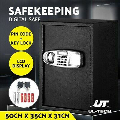 UL-TECH Electronic Digital Home Security Safe Box Office Cash LCD Display
