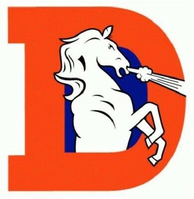 Denver Broncos NFL Color Die-Cut Decal  Yeti Sticker Free Shipping