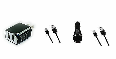 Car-Wall AC Home Charger-USB Cord Cable Wire for Motorola Moto G6 Plus Moto G6