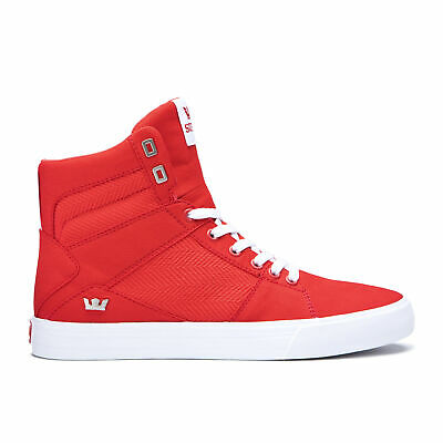 Supra Skateboard Shoes Aluminum Risk Red-White