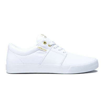 Supra Skateboard Shoes Stacks Vulc II WhiteGold-White