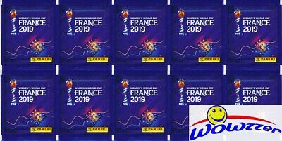 10 2019 Panini FIFA Women's World Cup Soccer France Sealed Packs-50 Stickers