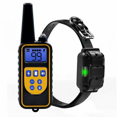 Dog Shock Training Collar Rechargeable - Waterproof 875 Yards Remote Control