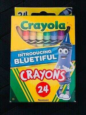 Crayola Classic Crayons featuring Bluetiful 24 Count- Ships Today- NEW RARE