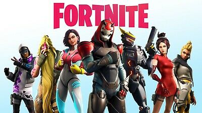 Fortnite Poster Battle Royale Game Wall Poster white 24x36 or 27x 40