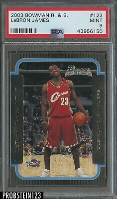 2003-04 Bowman 123 LeBron James Cleveland Cavaliers RC Rookie PSA 9 MINT