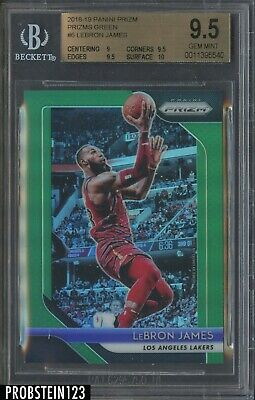 2018-19 Panini Prizm Green 6 LeBron James Los Angeles Lakers BGS 9-5 w 10