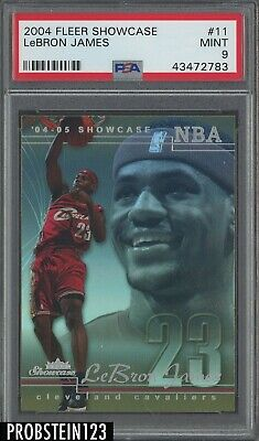 2004-05 Fleer Showcase 11 LeBron James Cleveland Cavaliers PSA 9 MINT