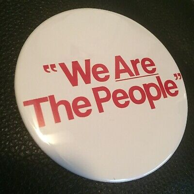 We Are The People 3 Pin Button Taxi Driver Travis Bickle Halloween Costume Prop