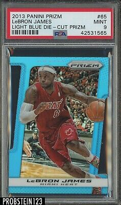 2013-14 Panini Prizm Light Blue Die-Cut LeBron James Miami Heat 83199 PSA 9