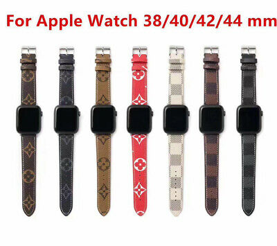 Luxury Bracelet New Grid Strap Leather Watch Band For Apple Watch Series 4 3 2 1