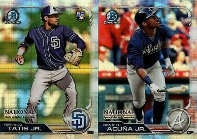 2019 TOPPS BOWMAN CHROME NATIONAL NSCC REFRACTOR SINGLES W RC  YOU PICK FOR SET