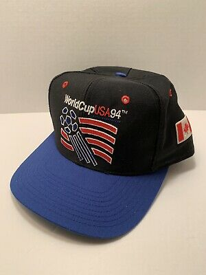 Vintage 1994 World Cup USA 94 Official Snapback Cap Hat Blast Black Canada