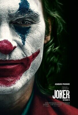 Joker half a face Movie Poster  24 x 36 or  27x 40